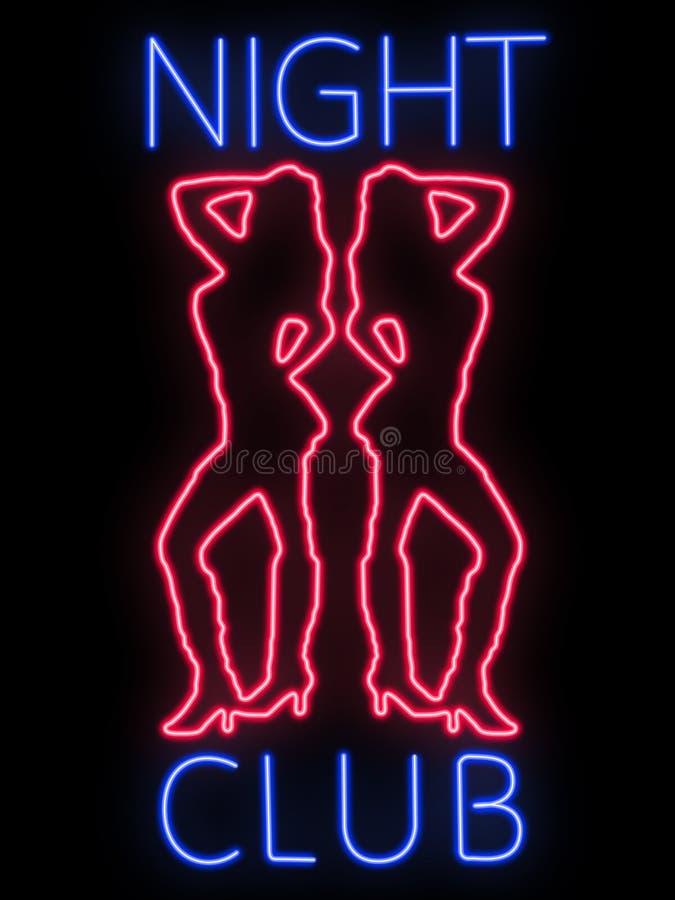 klubu nocny neonowy znak zdjęcia royalty free