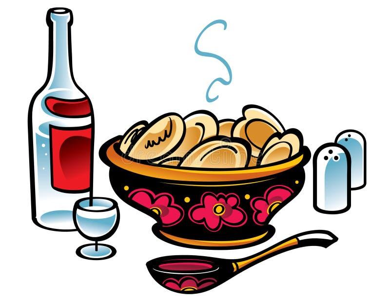 kluch mięsa rosjanin royalty ilustracja