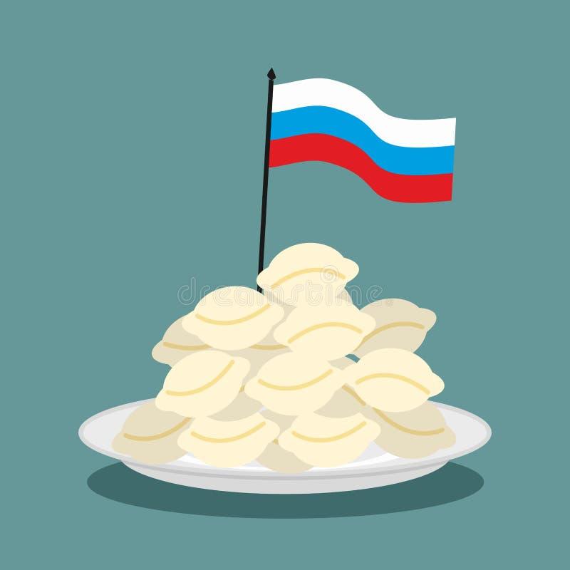 Kluchy Rosyjski krajowy patriotyczny jedzenie ilustracji