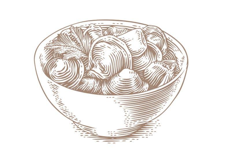 Kluchy z masłem ilustracja wektor