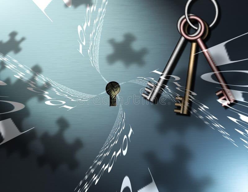klucz binarna układanki royalty ilustracja