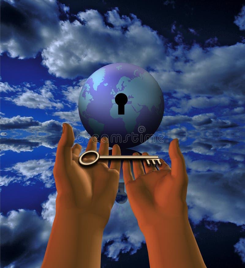 klucz do świata ilustracja wektor