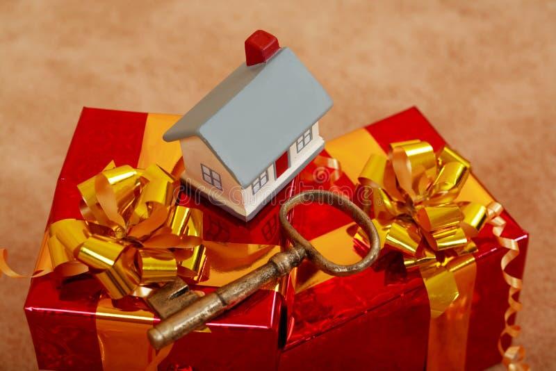 klucz do domu fotografia stock