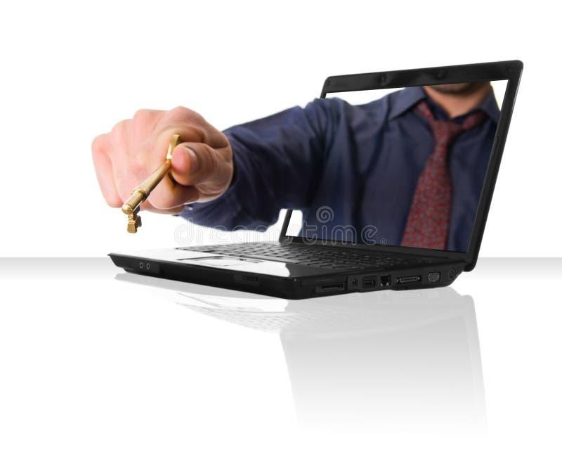 klucz do internetu zdjęcie stock