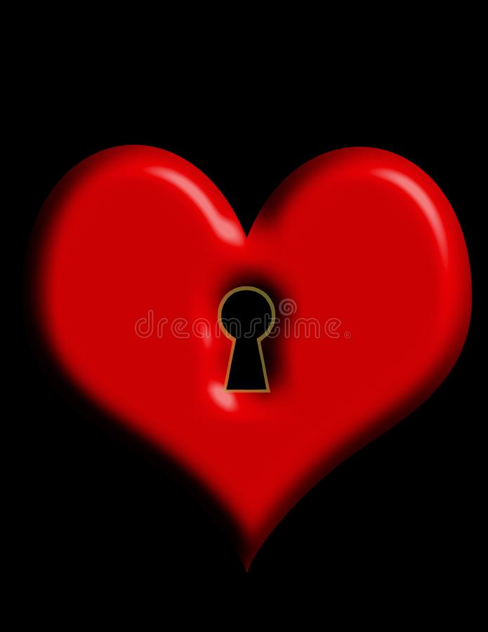 klucz do mojego serca royalty ilustracja