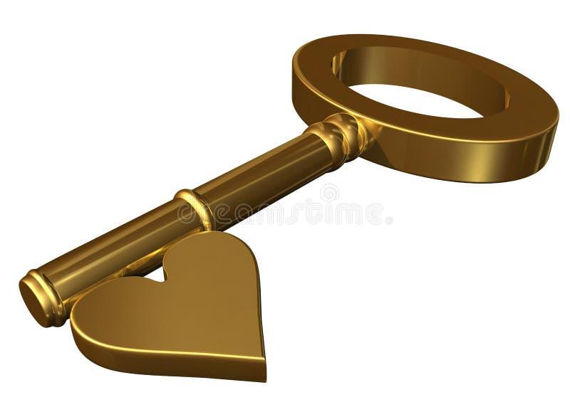 klucz do twojego serca ilustracja wektor