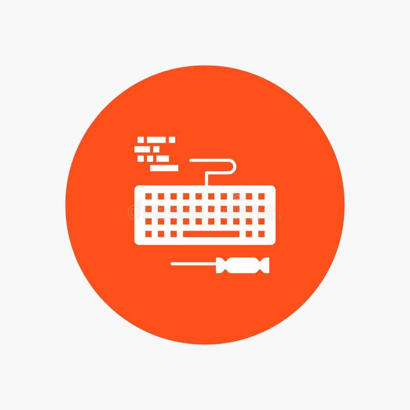 Klucz, klawiatura, narzędzia, naprawa ilustracji