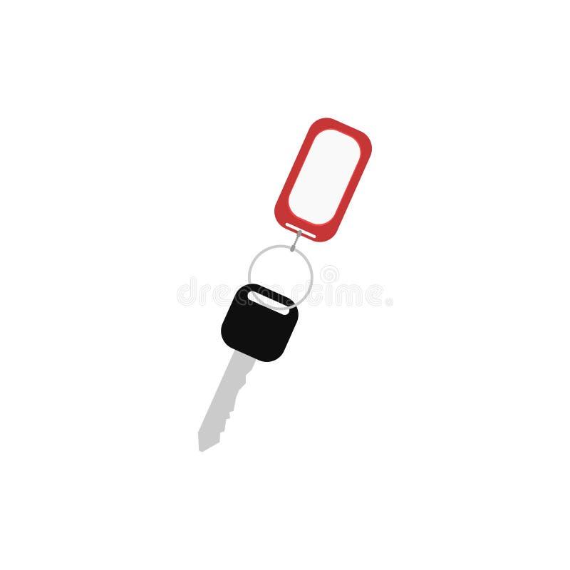 Klucz, kluczowy łańcuch Klucz biuro Biały tło również zwrócić corel ilustracji wektora 10 eps royalty ilustracja