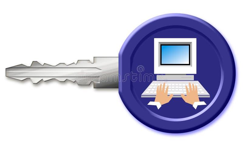 klucz komputerowy ilustracji
