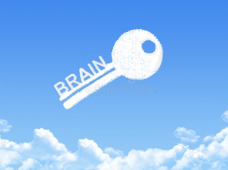 Klucz mózg chmury kształt royalty ilustracja