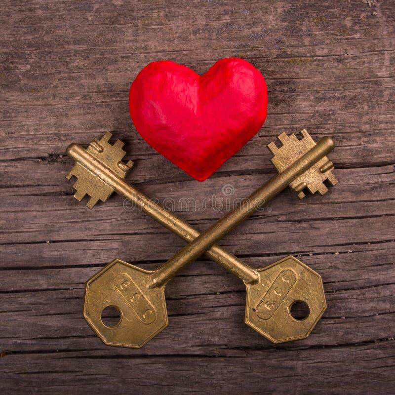 Klucz od serca obraz royalty free