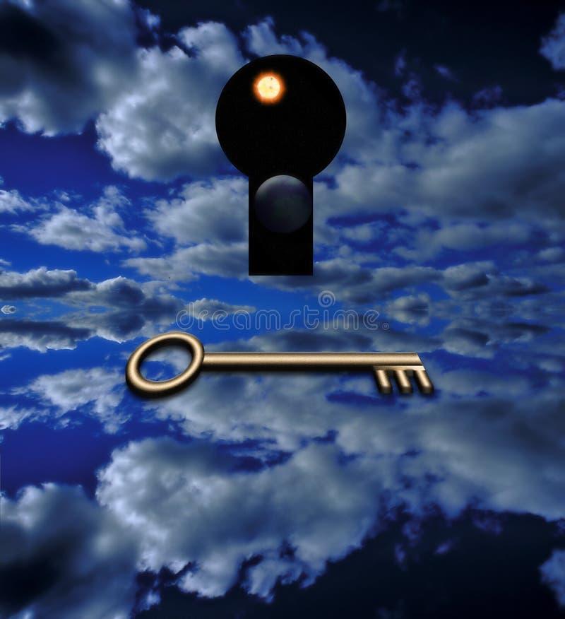 klucz otwiera fotografia stock