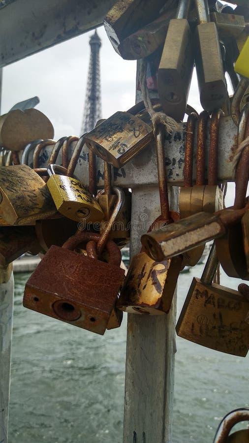 Klucz Paryż fotografia royalty free