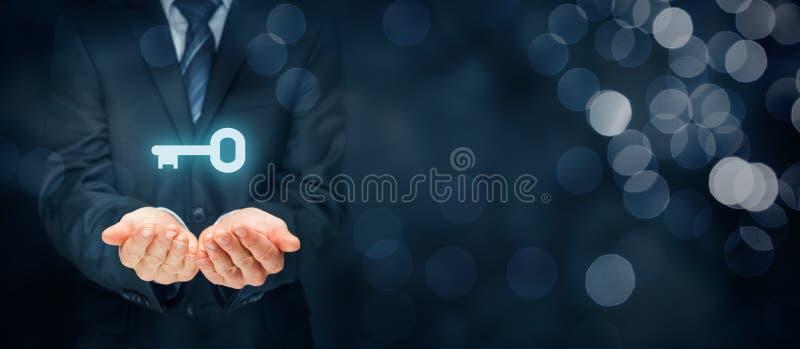 Klucz sukces lub rozwiązanie zdjęcia stock