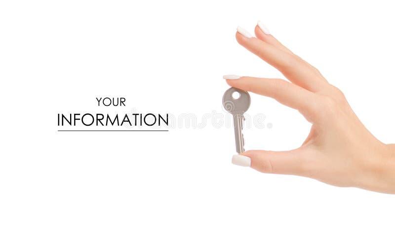 Klucz w ręka wzorze obraz royalty free