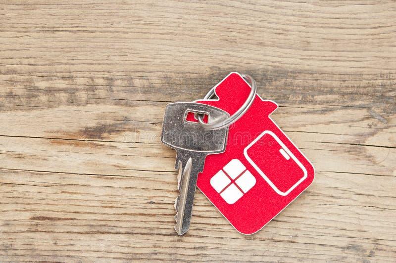 Klucz z domową etykietką zdjęcia royalty free