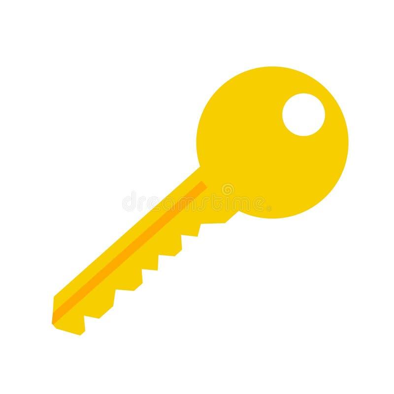 Klucza wektoru dostępu symbolu ikony domowego †'kędziorek ochrony ochrony znak royalty ilustracja