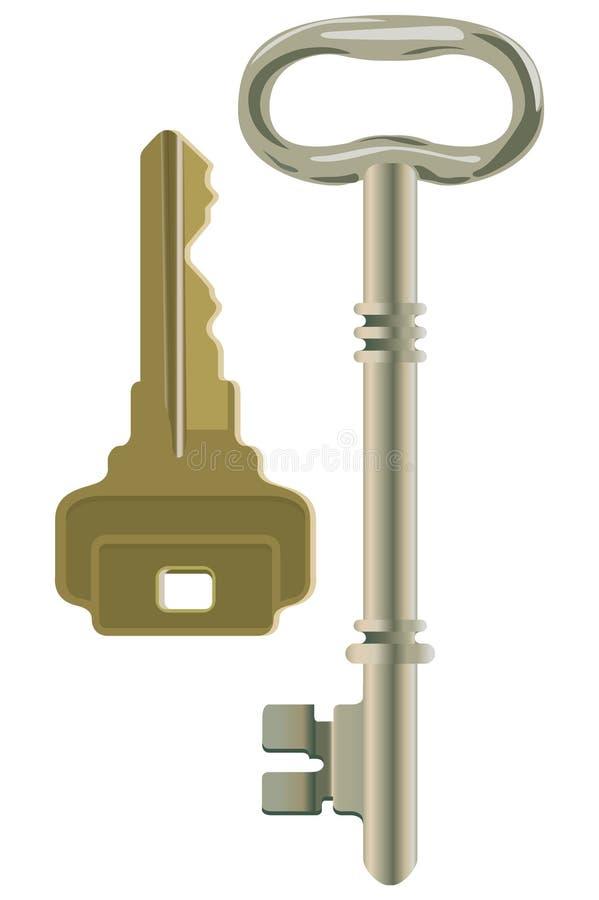 klucze royalty ilustracja
