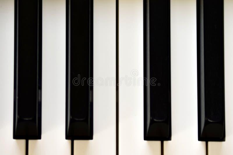 Klucze cyfrowy pianino, mi?kki ogniskowanie, kreatywnie nastr?j osoby improwizacja i tw?rczo??, obraz royalty free