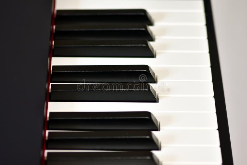 Klucze cyfrowy pianino, mi?kki ogniskowanie, kreatywnie nastr?j osoby improwizacja i tw?rczo??, fotografia royalty free