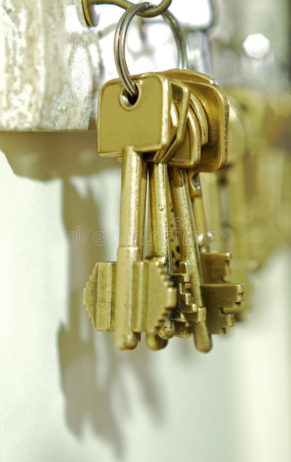 klucze do domu fotografia stock