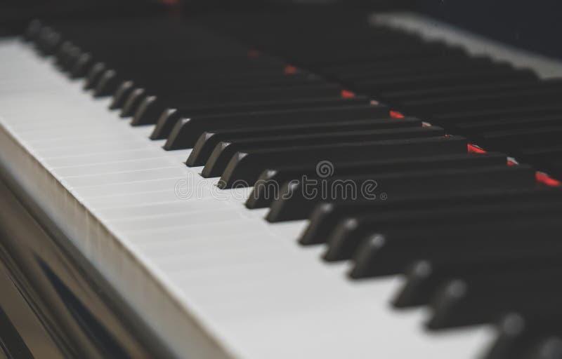 klucze fortepianowi grand fotografia royalty free