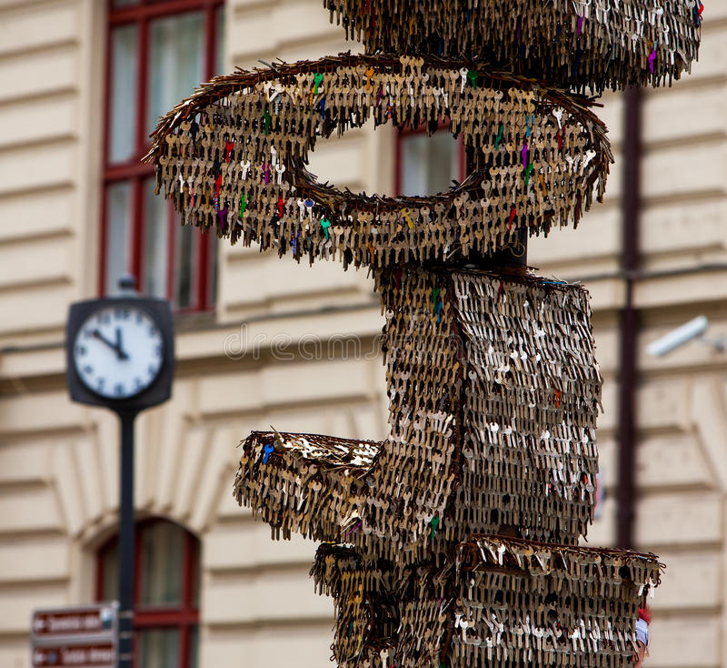 Klucze Praga fotografia royalty free