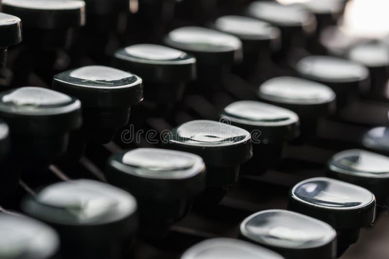 Klucze rocznika maszyna do pisania zdjęcie royalty free