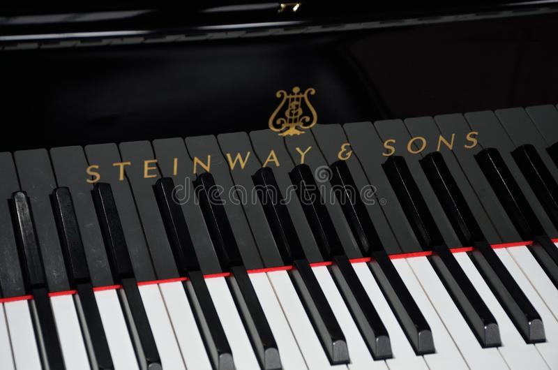 Klucze Steinway Uroczysty pianino fotografia stock
