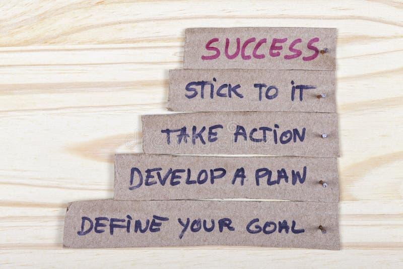 Klucze sukces z twój planami zdjęcie royalty free