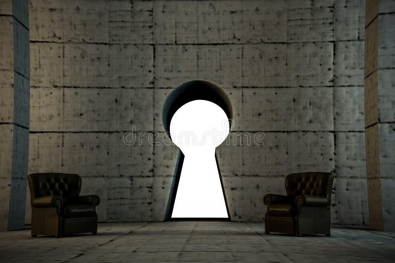 Kluczowa brama ilustracja wektor