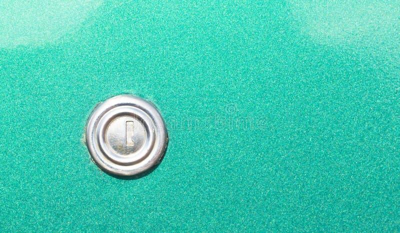 Kluczowa dziura na Starego rocznika Samochodowym drzwi obrazy royalty free