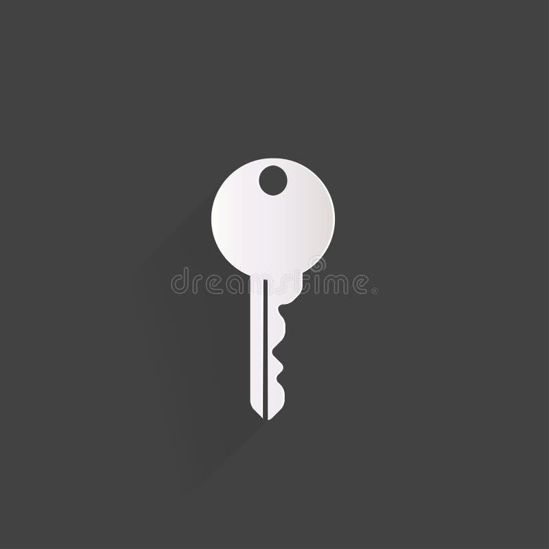 Kluczowa ikona, drzwiowego kędziorka symbol ilustracji