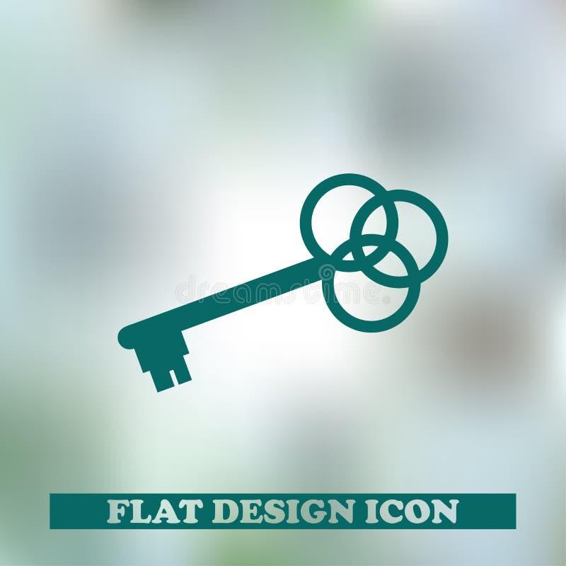 Kluczowa ikona Sieć projekt zdjęcia stock