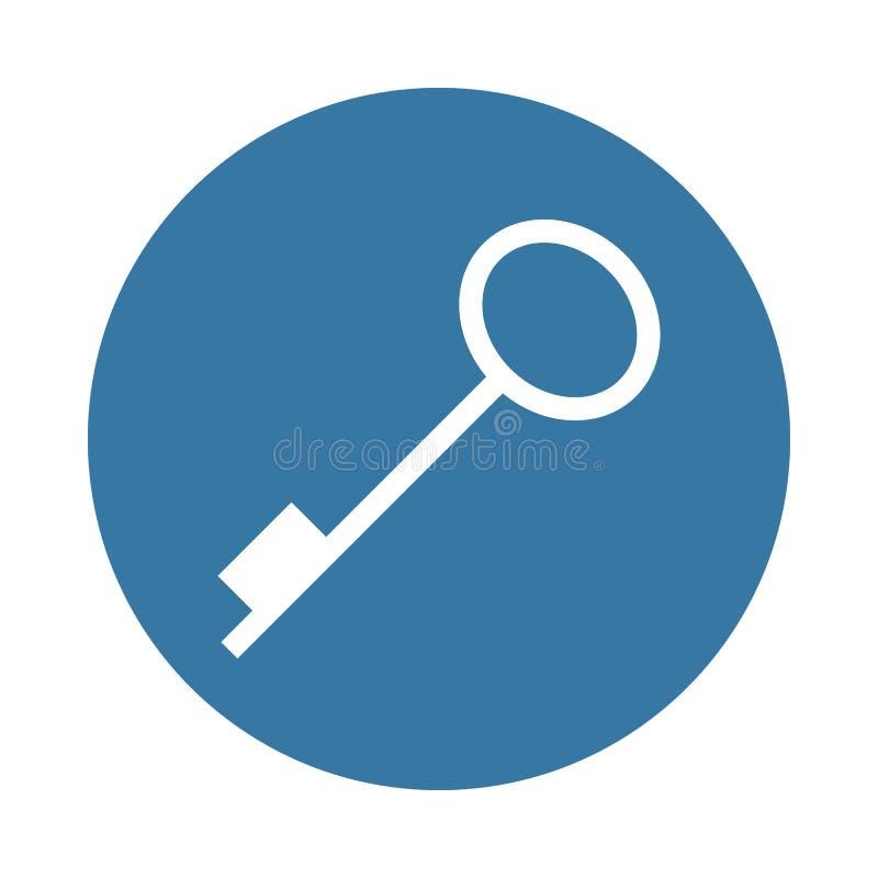 kluczowa ikona w odznaka stylu royalty ilustracja