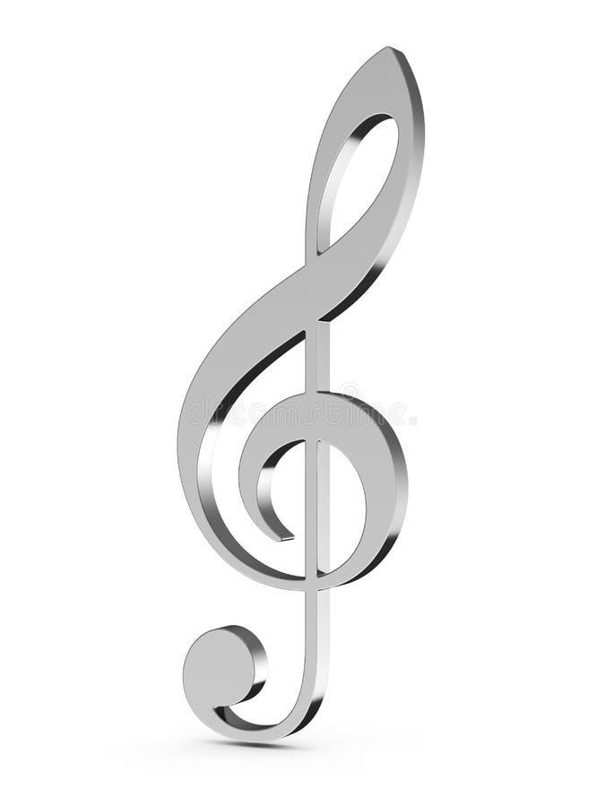 kluczowa muzyka royalty ilustracja