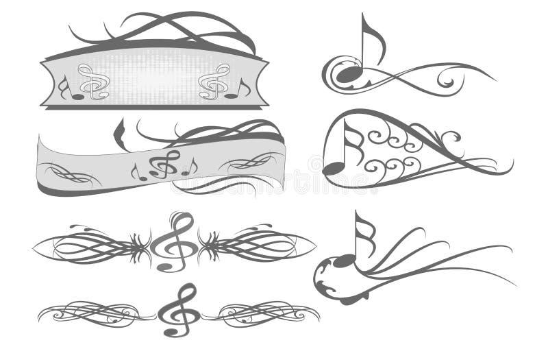 kluczowe notatki royalty ilustracja