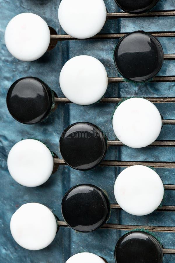 Kluczowy akordeon zdjęcie stock