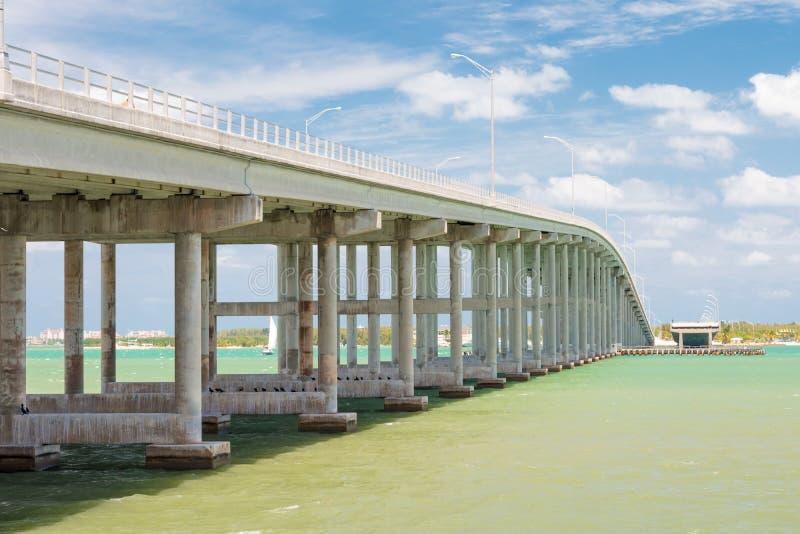 Kluczowy Biscayne most w Miami obrazy royalty free