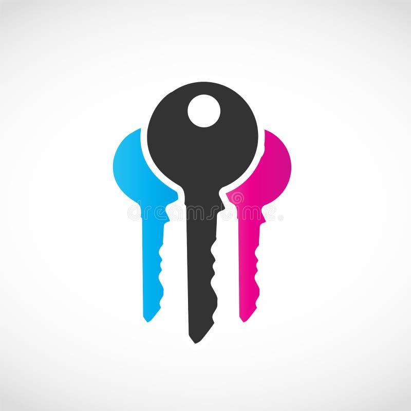 Kluczowy biznesu Logo ilustracji