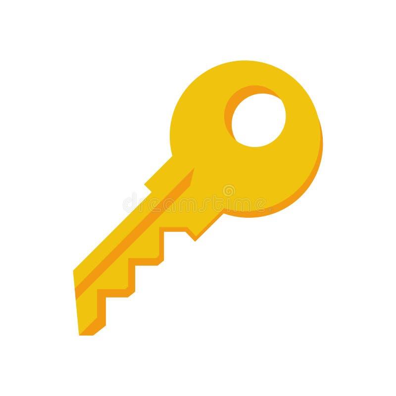 Kluczowy ikona wektor odizolowywający na białym tle, klucza znak ilustracji