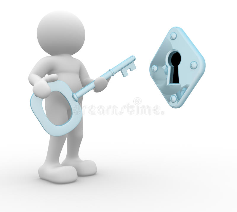 kluczowy keyhole royalty ilustracja