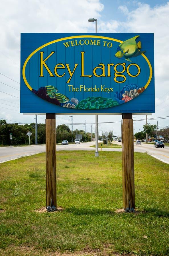 Znak powitalny w Kluczowym Largo obrazy royalty free