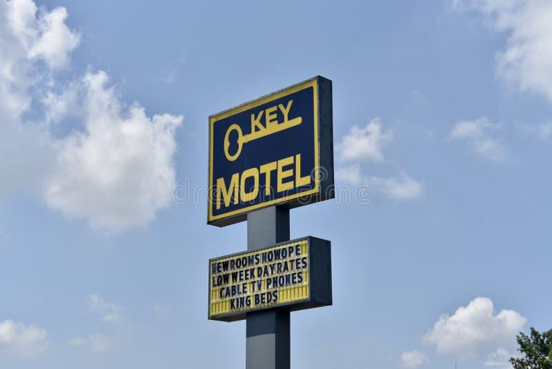 Kluczowy motel Memphis, TN fotografia royalty free