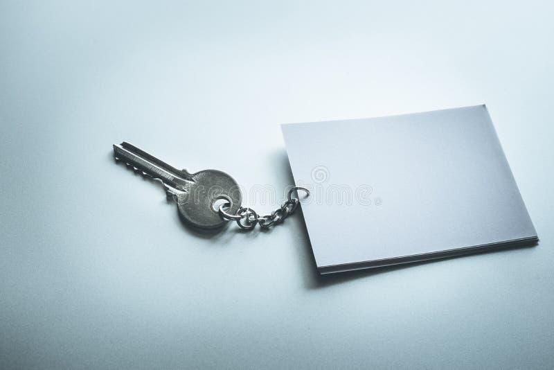 Kluczowy pojęcie z pustego papieru notatką obrazy royalty free
