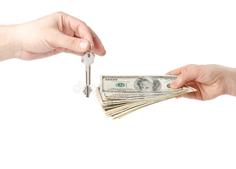 kluczowy ręka pieniądze zdjęcia stock