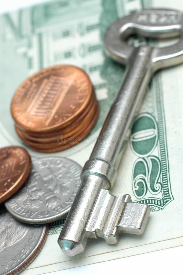 kluczowym pieniądze fotografia stock
