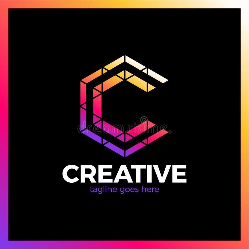 Klug, kreativ, Dreieck, bunt, Buchstabe C Smart und Idee L vektor abbildung