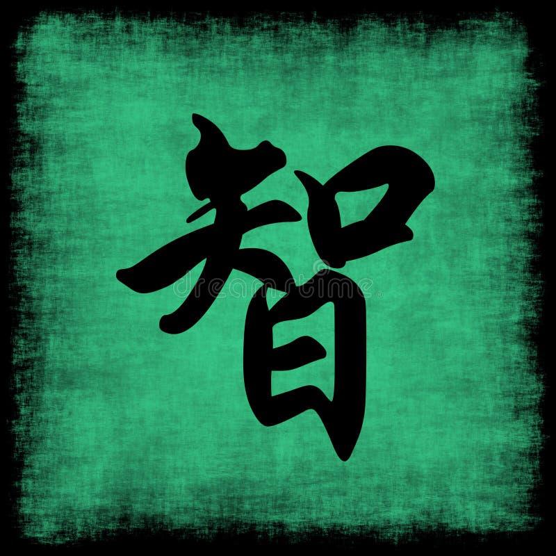Klugheit-chinesisches Kalligraphie-Set lizenzfreie abbildung