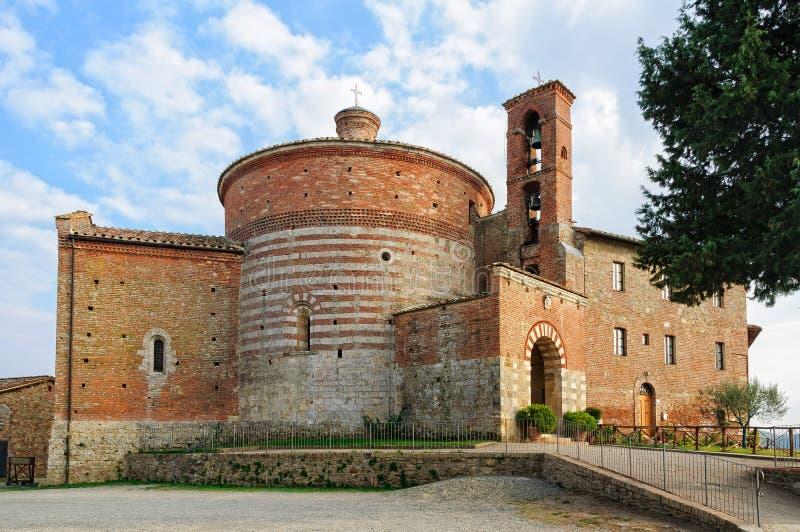 Kluis van Montesiepi - San Galgano stock afbeeldingen